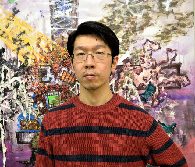 Ryo Kato in his studio