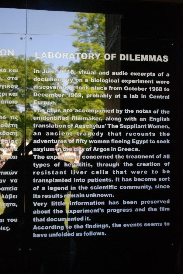 Giorgios Drivas: Laboratory of Dilemmas (2017). Photo: Moritz Niehues.