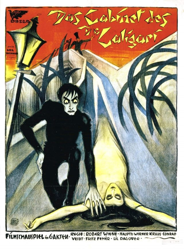 Atelier Ledl Bernhard: The poster of the film The Cabinet of Dr. Caligari (1920). Photo: Wikimedia Commons.