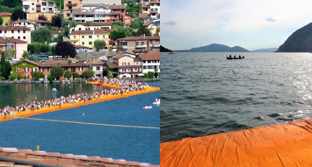 Christo and Jeanne-Claude: Floating Piers (2016). Photos: Irene Daum.